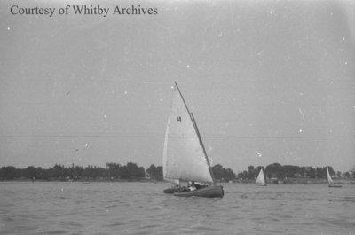 Sailboats on Lake Ontario, c.1937