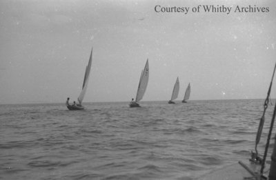 Sailboats on Lake Ontario, c.1937