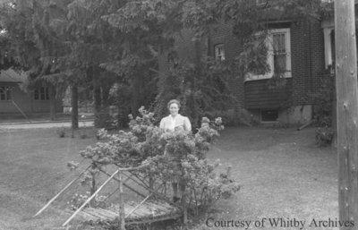 Florence Davey on a Rose Bridge, July 1939