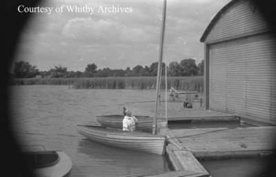 Hangar and Whitby Yacht Club, c.1938