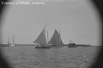 Sailboats in the Whitby Harbour, c.1938