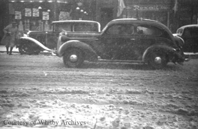Dundas Street West in Snow, April 8, 1938