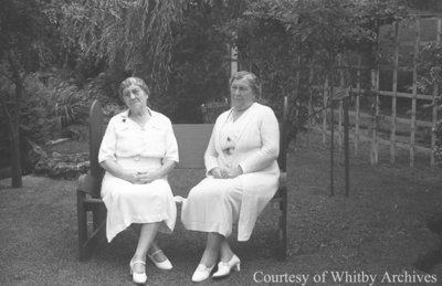 75th Birthday for Harriet and Mary Esther Pringle, July 30, 1938
