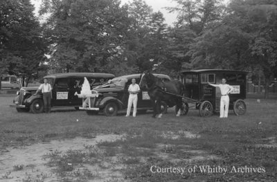 Martin's Home Bakery Trucks and Wagon, August 4, 1939