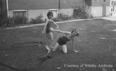 Marian & Jane Playing, June 12, 1938