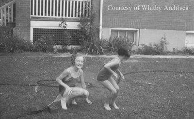 Marian & Jane Playing, June 12, 1938