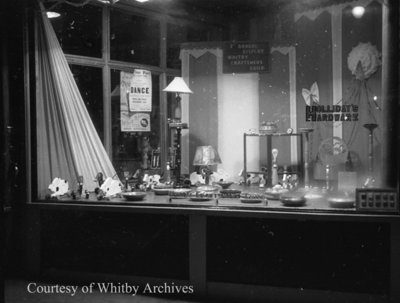 W.A. Holliday's Hardware Store Display Window, October 24, 1939