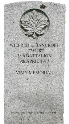Gravestone for Wilfred L. Bancroft