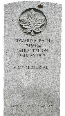 Gravestone for Edward A. Bath
