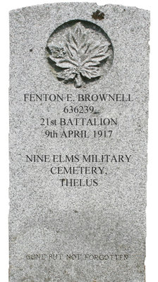 Gravestone for Fenton E. Brownell