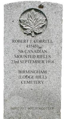 Gravestone for Robert J. Correll