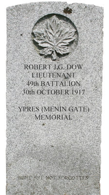 Gravestone for Robert J.G. Dow