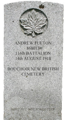 Gravestone for Andrew Fulton
