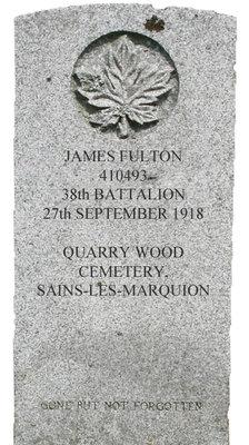 Gravestone for James Fulton