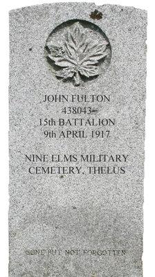 Gravestone for John Fulton