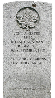 Gravestone for John A. Gates