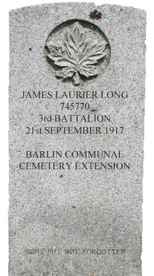Gravestone for James Laurier Long