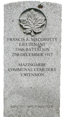 Gravestone for Francis MacGrotty
