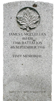Gravestone for James I. McClellan