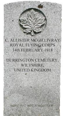 Gravestone for C. Allister McGillivray