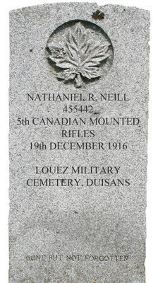 Gravestone for Nathaniel R. Neill