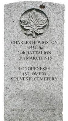 Gravestone for Charles H. Wigston