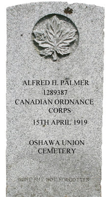 Gravestone for Alfred H. Palmer
