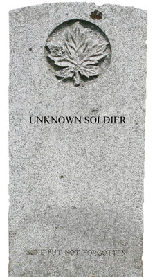 Gravestone for the unknown soldier