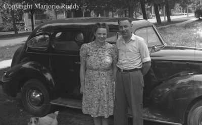 Unidentified Woman and Man, c.1945