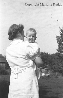Unidentified Woman and Child, c.1945