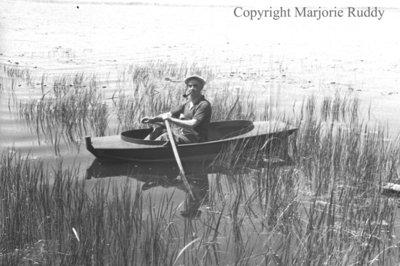 Unidentified Man in a Boat, c.1947