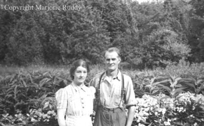 Unidentified Man and Woman, c.1945