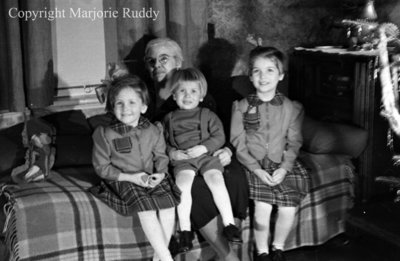 Unidentified Woman and the Adams Children c.1945