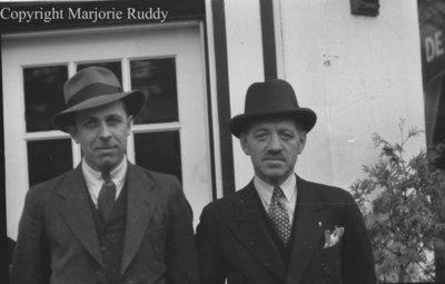 Corbett Stiner and Unidentified Man, March 23, 1939