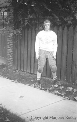 Unidentified Football Player, c.1939