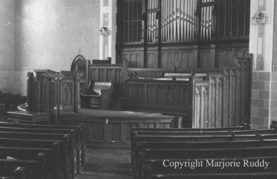 Whitby United Choir Loft, September 1939