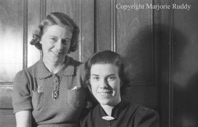 Mary Brawley & K. Berton, February 1938