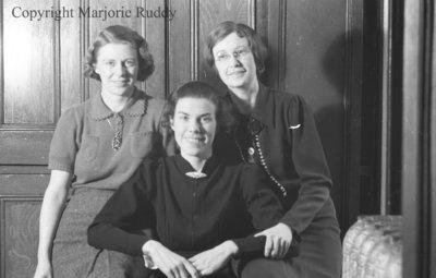 Mary Brawley, K. Berton & Unidentified Woman, February 1938