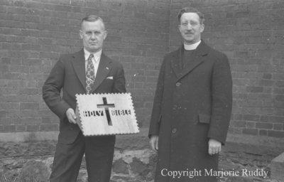 Rev. Edwin Adye Receiving Book Rest , May 26, 1938