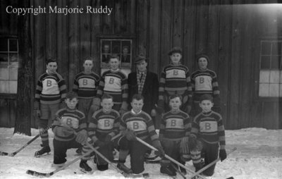 Whitby Bruins Midget Hockey Team, February 1938