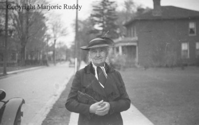 Mary Rowe at the Whitby Festival, May 10, 1938