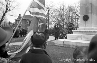 Armistice Service at Cenotaph, November 1939