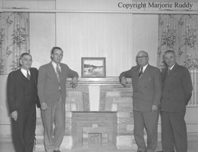 Councillor Alex Scott and men, 1948