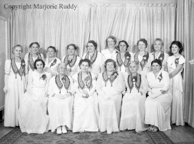 Rebekah Lodge Installation Team, October 6, 1948
