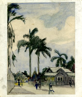 A Moonlight Night in Jamaica Painting, c.1921