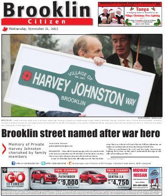 Brooklin Citizen (Brooklin, ON), 21 Nov 2012