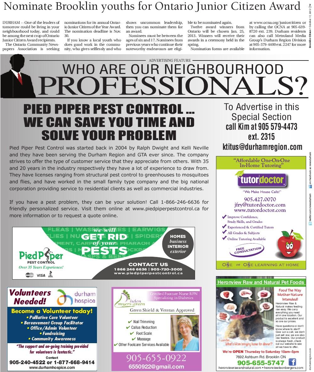 Brooklin Citizen (Brooklin, ON), 17 Oct 2012