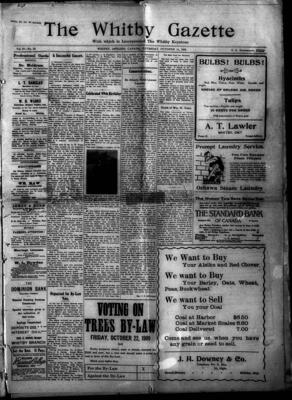 Whitby Gazette, 14 Oct 1909