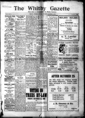 Whitby Gazette, 21 Oct 1909