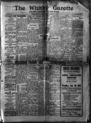 Whitby Gazette, 5 Jan 1911